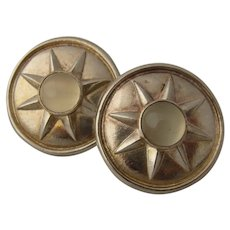 Dower & Hall Sterling Sun & Moonstone Clip Earrings