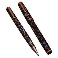 1930s Eberhard Faber Fountain Pen Pencil Set Permapoint