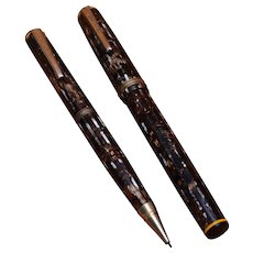 1930s Eberhard Faber Fountain Pen Pencil Set Permapoint