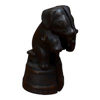 Ca 1920s Elephant on Bench on Tub Cast Iron Bank A.C. Williams