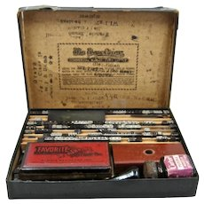 Early 1900s Excelsior Rubber Print Type Set in Box