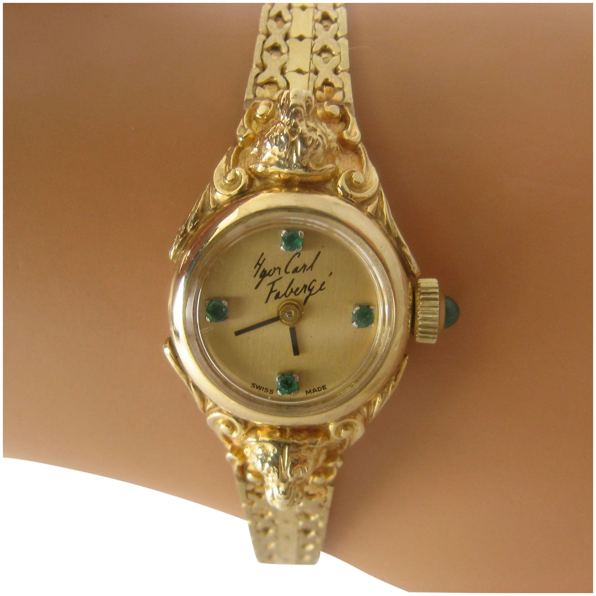 products watches sold deleuse watch piaget diamond vintage fine img ladies gold emerald