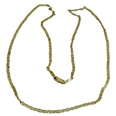 """14K Flat Mariner/Anchor Chain Necklace 2.5mm 20"""" 5.8 Grams"""