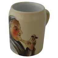 Miniature Mug Stein Match Holder Monk Smoking Cigar