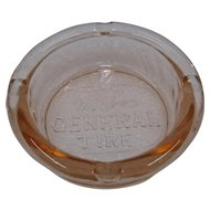 1930s Pink Glass Advertising Ashtray The General Tire