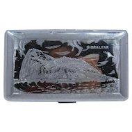 1950s Cigarette Case Rock of Gibraltar Souvenir Mayell England