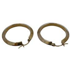 14K Gold Hoop Earrings Lever Backs