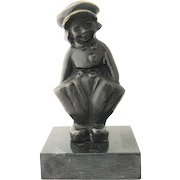 Bronze Dutch Boy on Marble by Gordillo
