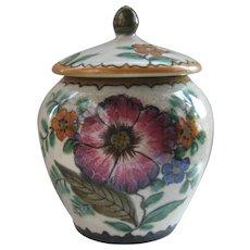 Ca 1950s Royal Zuid Gouda Pottery Covered Jar Humidor