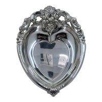 Wallace Grande Baroque Repousse Sterling Bon Bon Dish Heart Shape
