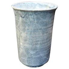 Mid Century Gray Vase Studio Pottery
