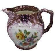 Ca 1930s Gray's Pottery England Pink Lustreware Creamer Roses Flowers
