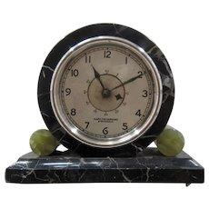 Rare Hamilton Sangamo Deco Marble Onyx Electric Clock