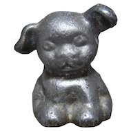 Hubley Hines Pup Dog Cast Aluminum Advertising Paperweight