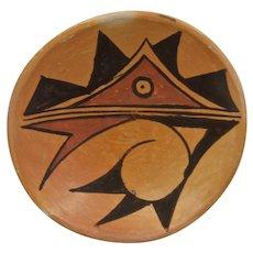 Mid 1900s Hopi Bowl Graphic Polychrome Design