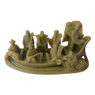 Ca 1900 Carved Soapstone Eight Immortals on Boat