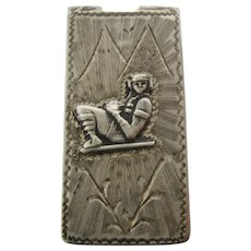 Peruvian Incan Mayan Aztec Sterling Money Clip