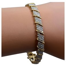 "10K Diamonds Tennis Bracelet 2 Carats 7"""