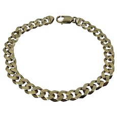 "Solid 14K Curb Chain Bracelet 21.8 Grams 9""Long"
