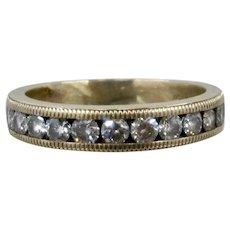 14K Men's Ring Channel Set Dazzling Diamonds 1.75 TCW Band Sz 9 1/4