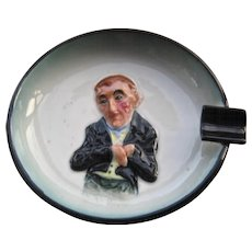 Japan Porcelain Character Ashtray Uriah Heep in Relief Mid 1900s