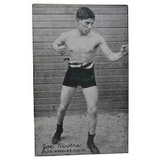 1921 Joe Rivers Exhibit Supply Co Postcard Boxing Boxer