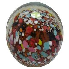 1960s Kanawha Art Glass Spatter Paperweight W. Virginia