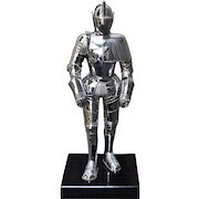 """Knight in Armour Cigarette Lighter Chrome 9.5"""" High"""