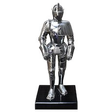 "Knight in Armour Cigarette Lighter Chrome 9.5"" High"