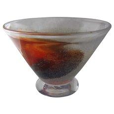 """Kosta Boda """"Twister"""" Bowl by Kjell Engman Sweden Art Glass"""