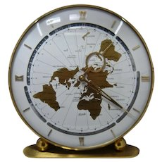 Big 1960s Kundo World-Time 8 Day Wind-Up Clock German