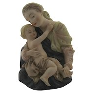 Lefton Porcelain Hand Painted Madonna & Child ( Mary & Jesus) #KW101