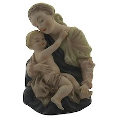 Lefton Porcelain Hand Painted Madonna & Child ( Mary & Jesus) #KW101