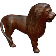 1920s Standing Lion Cast Iron Bank A.C. Williams