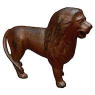 1920s Standing Lion Cast Iron Bank A.C. Williams
