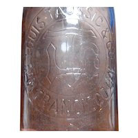 Ca 1900 Louis Taussig San Francisco Whiskey Bottle