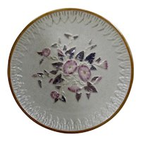 American Etruscan (Griffen Smith & Hill) Majolica Plate Morning Glory