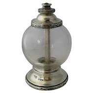 Antique Mappin & Webb Crystal Sterling Pepper Grinder