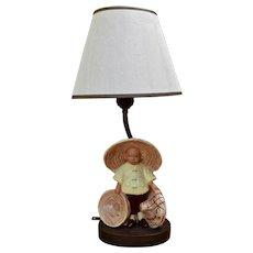 1940s McCarty Bros Figure Lamp California Pottery