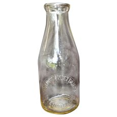 Ca 1930s Meadowsweet Dairy Corte Madera Ca Quart Milk Bottle