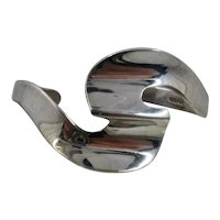 Mexico Sterling S-Wave Cuff Bracelet