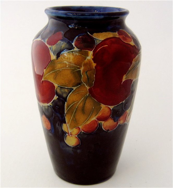Moorcroft Pomegranate Vase Potter To The Queen Mendocino Vintage