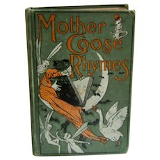 Ca 1900 Mother Goose Rhymes Book A.L. Burt Co. 240 Illustrations +
