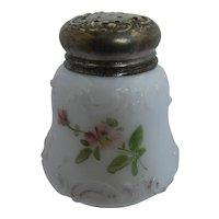 Late 1800s Mt. Washington Art Glass Hand Painted Shaker