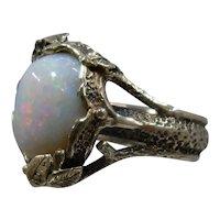 14K Naturalistic Opal Ring Studio Artist Sz 4 1/4
