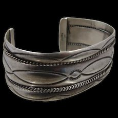 Navajo Sterling Cuff Bracelet Twisted Rope Cables by Nora Tahe Sz 6 1/4