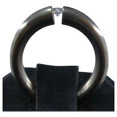 Niessing 18K WG Tension Set Diamond Ring Size 5 1/4