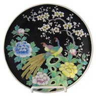 Nippon Birds of Paradise Enameled Porcelain Plate