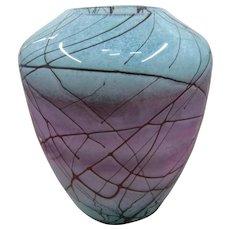 Nourot Art Studio Large Marbled Vase Signed Michael Nourot 1991