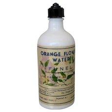 Funel Orange Flower Water Bottle France Ca 1920